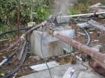 幕川温泉の源泉噴出口