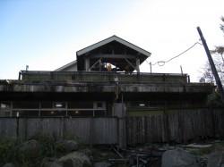 幕川温泉 幕川水戸旅館裏の源泉噴出口